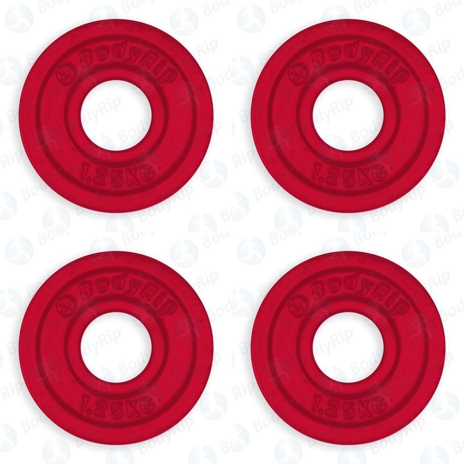 Olympische Gusseisen Gewicht Platte 4 X 1,25 kg │ 5.1cm Loch Farbe Codiert von