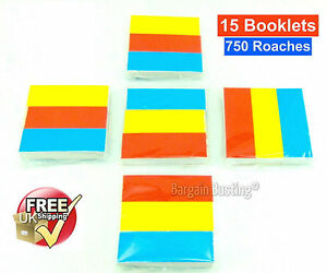 750-ROACHES-ROACH-TIPS-FILTER-MULTI-COLOUR-BOOKS-5-PACKS-OF-3-15-BOOKS-UK