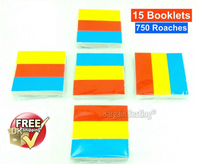 750 ROACHES ROACH TIPS FILTER MULTI COLOUR BOOKS 5 PACKS OF 3 = 15 BOOKS UK