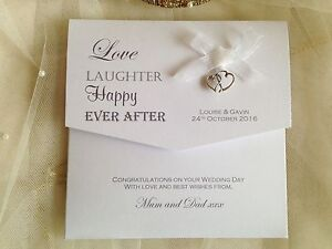 Personalised Wedding Gifts Voucher : ... Personalised Wedding Day Money/Voucher/ Gift Card/Wallet/En velope