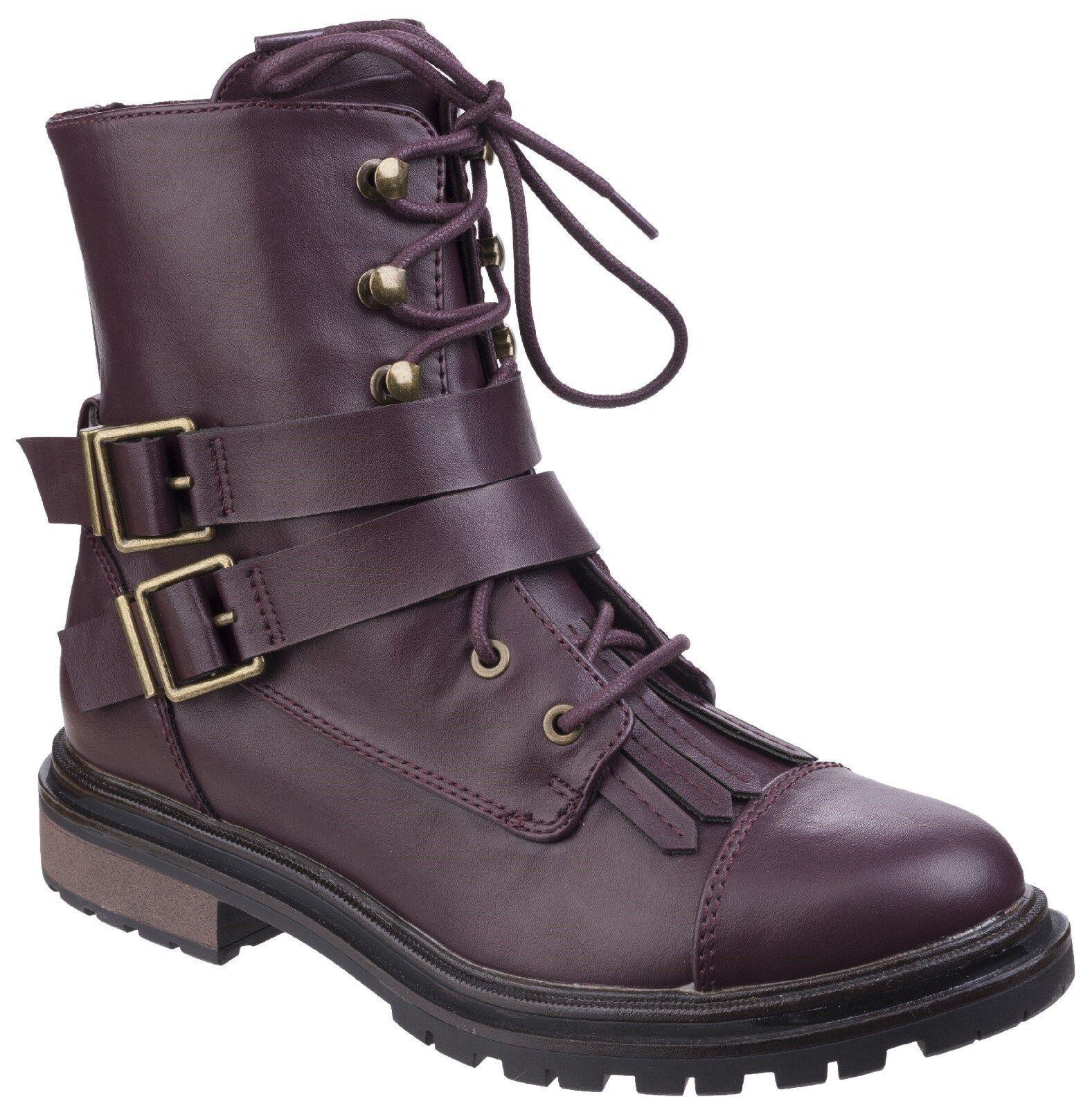 Rocket Dog botas de combate LaCie para Mujer Hebilla De De De Encaje Zapatos De Moda Con Cremallera Lateral 1af911