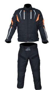 Motorradbekleidung-Cordura-Motorrad-Jacke-Hose-Motorradanzug-Hawk-Motorradjacke