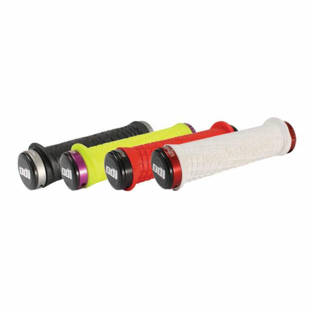 Grey Yellow ODI Troy Lee Designs MTB Lock On Grips 130mm