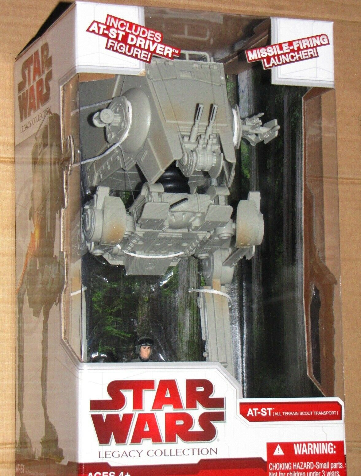 Estrella Wars Hasbro Legacy Colección AT-ST Scout Walker Con Driver Perfect escala MIB