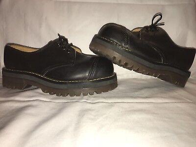 Vintage Women's 90s Dr Doc Martens UK 3 US 5 Black Moc Toe Boots England Made | eBay