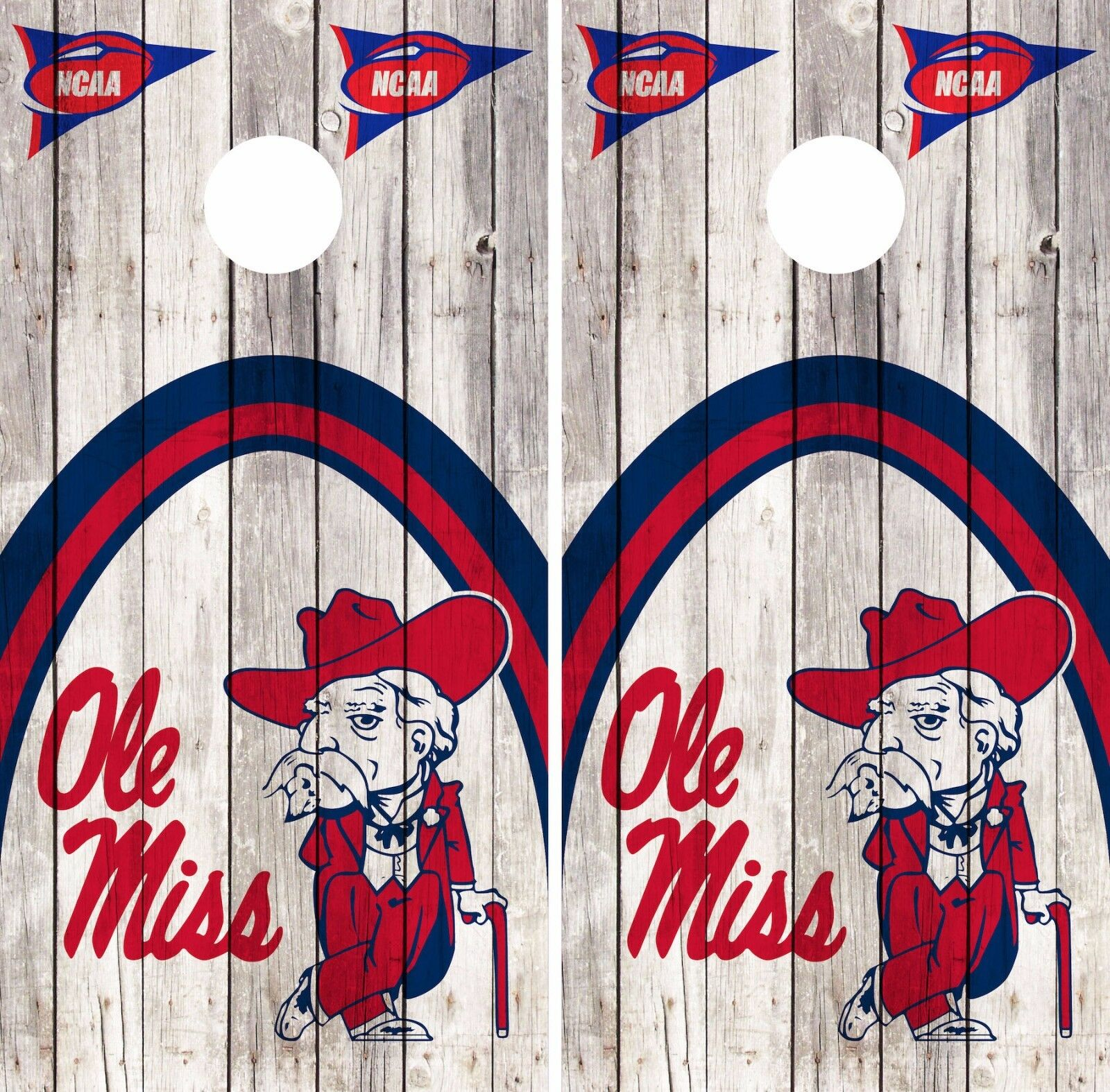 Ole Miss Cornhole Skin Wrap NCAA College Vintage  Decal Vinyl Team Flag DR399  in stock