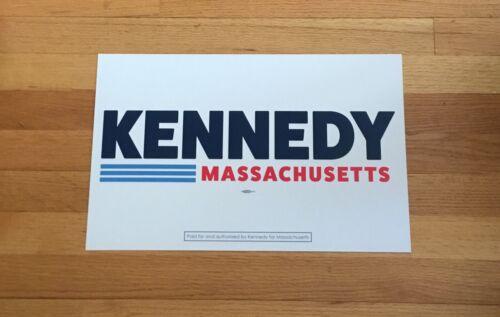 Joe Kennedy Massachusetts Official 2020 Senate Campaign Sign Placard 11x17