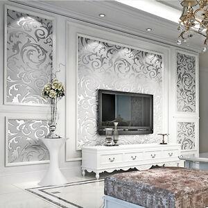 10M Elegant Vliestapete Wand Tapete Vlies Wandtapete 3D Optik Design ...