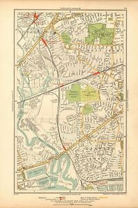 1933 LONDON MAPSTRATFORD WEST HAM PLAISTOW CANNING TOWN EAST