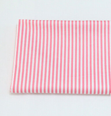 One PCS Cotton Fabric Pre-Cut Cloth Fabric for Sewing Stripes 9 Colors