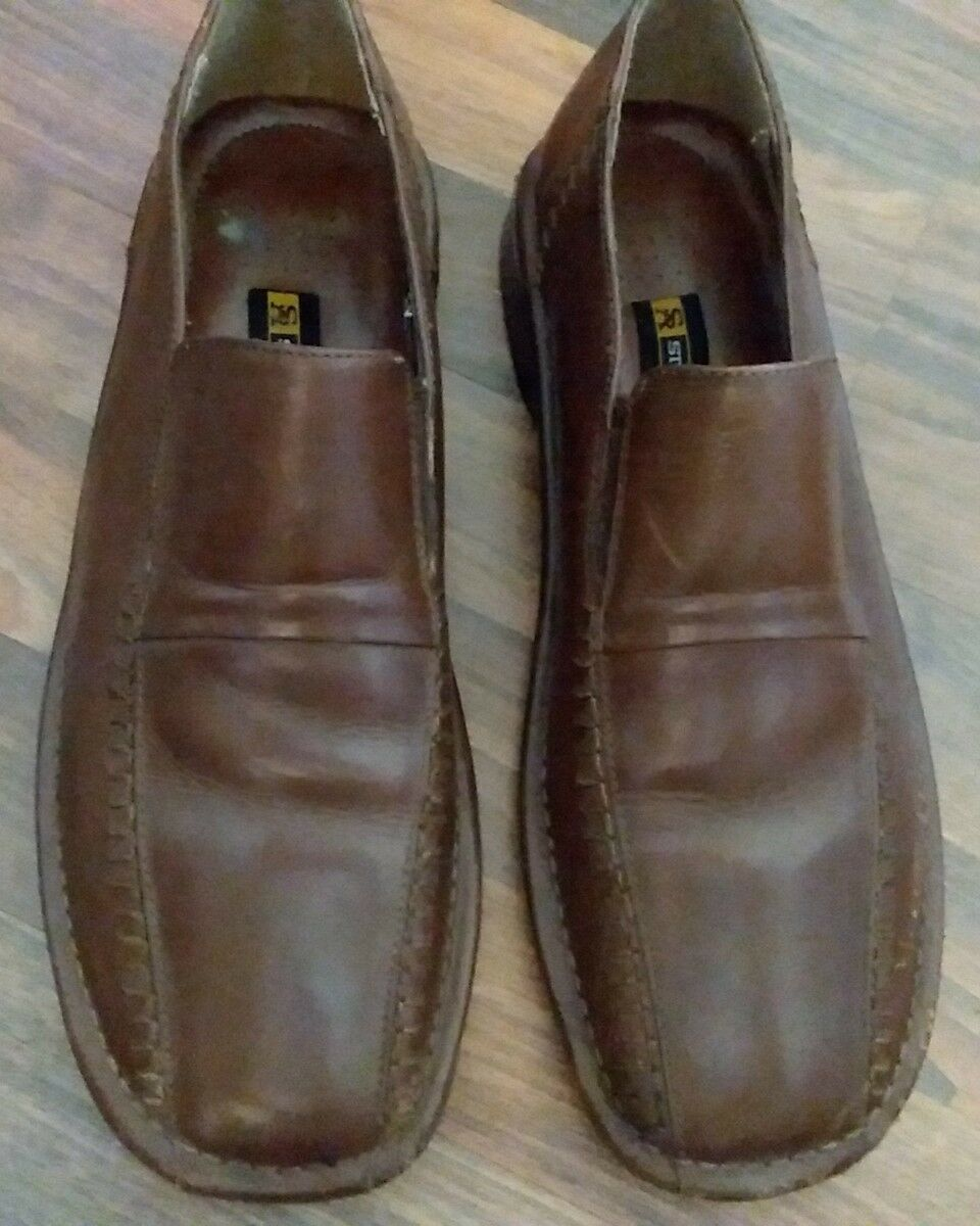 Mens stacy adams loafers brown moccasins Slip On size 10M brown loafers 23904 4dbd4a