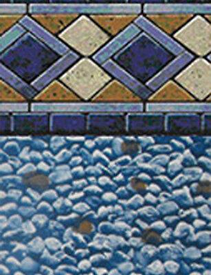 "27'x52"" Round Unibead Mosaic Diamond Above Ground Swimming Pool Liner-25 Gauge"