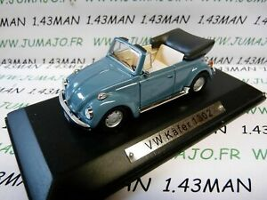 AK14-voiture-1-43-ixo-atlas-Auto-Klassiker-VOLKSWAGEN-VW-Kafer-1302-cabriolet