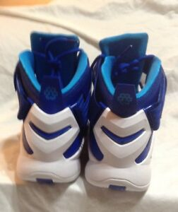 94bd079eb68 Nike 749498-401 Lebron Soldier IX TB Blue White Basketball Shoes Mens Size  17