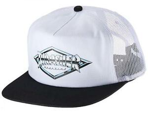 THRASHER-MESH-BACK-CAP-DIAMOND-EMBLEM-TRUCKER-CAP-WHITE
