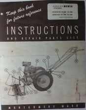 Simplicity Walk Behind Wards Tractor Sicklerotary Mower Owner Parts 4 Manuals