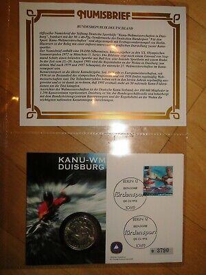 Numisbrief Limitiert Kanu-wm Duisburg 10 Dm Silbermünze Erstausgabe 1995