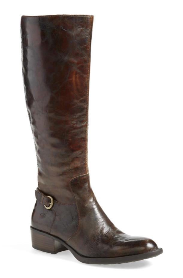 Born Helen Women's Brown Leather Boot Sz 5 2628 *