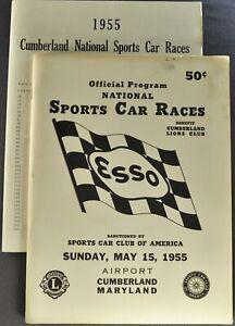 1955 Cumberland Sports Car Race Program SCCA Jaguar 190SL 300SL Porsche Original