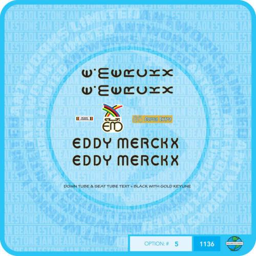 Eddy Merckx Corsa bicyclette decals transfers-autocollants-lot 5