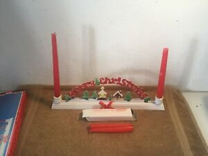 Vintage-Merry-Christmas-Wooden-Taper-Candle-Holder-Christmas-Around-The-World
