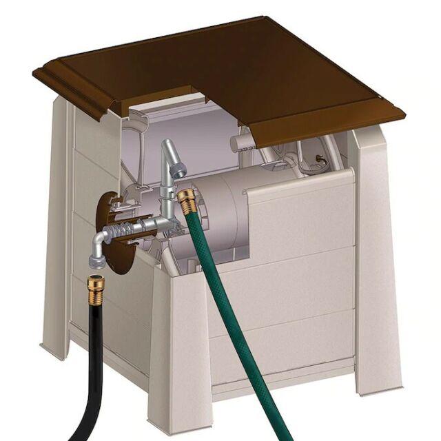 175 Foot Hose Reel Outdoor Water Yard Garden Compact Hoses Storage Holder Box For Sale Online Ebay
