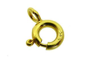 # 035 # Federring Kettenverschluss Stabile AusfÜhrung Gelb-gold 585 / 14k Ø 6 Mm
