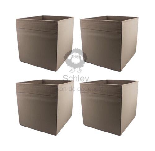 Fach IKEA OVP Korb 33x38x33cm NEU Box KALLAX DRÖNA 4 Stück Set braun