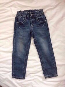 C/&A Boys New Ex Sand Wash Charcoal Grey Rivet Jeans Teenage Cotton Trouser
