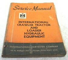 Vintage 1965 Ih International Crawler Loader Tractor Service Repair Manual