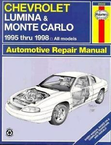 chevrolet lumina monte carlo repair manual automotive service 95 rh ebay com 1996 Monte Carlo 2000 Monte Carlo