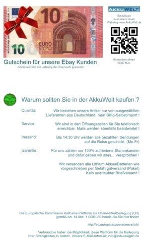 Akku Hetronic Kransteuerung Mini FBH300 68300600 68300900 Potain P-63418-95 Accu