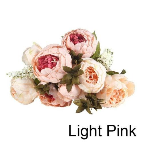 Artificielle Fausse Pivoine Soie Fleur Mariage Hydrangea Maison Mariage Jardin Décor HOT