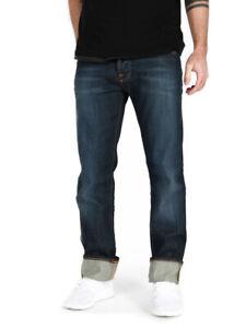 Nudie-Herren-Regular-Straight-Fit-Bio-Denim-Jeans-Average-Joe-Strikey-Eco-Wash