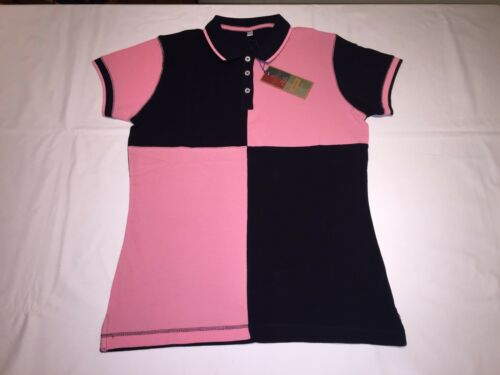 Navy//Pink R75 M//12 New Ladies Front Row  Quartered House Polo