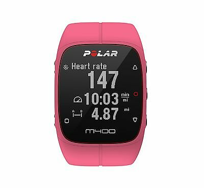 Polar M400 GPS Smart Sports Watch Pink With Heart Rate Monitor