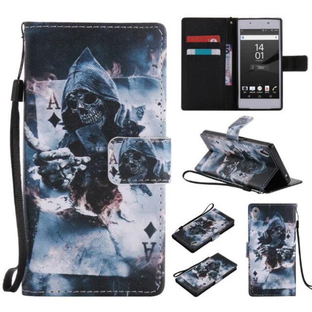 2017 Grim Reaper Printed Flip Phone Case Cover For All Models