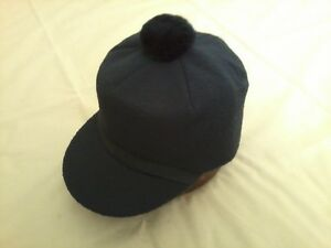 Langenberg Hat Company Made in USA Black Wool Sized Original Scotch Cap NEW