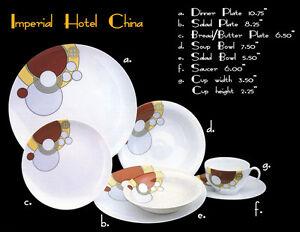 Image is loading Vintage-NOS-Art-Deco-Cabaret-China-Dishes-by-  sc 1 st  eBay & Vintage NOS Art Deco Cabaret China Dishes by Noritake in 1984 1920u0027s ...