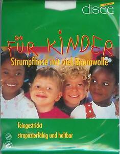 FEINE-STRUMPFHOSE-Baumwollmix-blickdicht-weiss-152-164-disee
