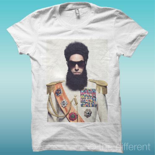 """T-SHIRT /"""" FILM THE DICTATOR  /"""" BIANCO THE HAPPINESS IS HAVE MY T-SHIRT NEW"""