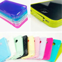 Color DUST PROOF Soft TPU Silicone Phone Case Skin cover For iPhone 4 4S