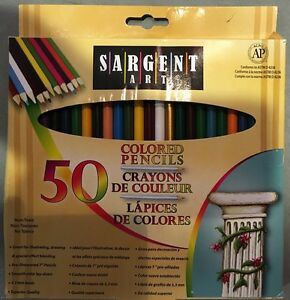 sargent art 22 7251 colored pencils pack of 50 assorted colors 50