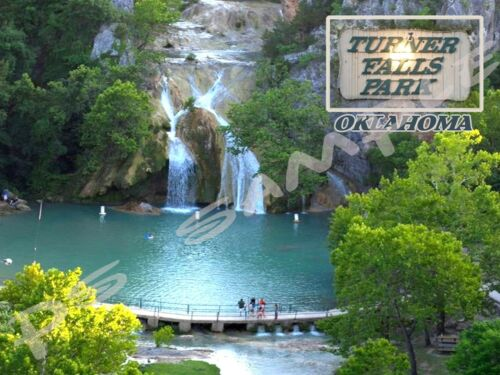 TURNER FALLS PARK Travel Souvenir Flexible Fridge MAGNET Oklahoma