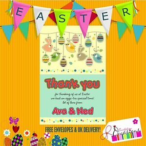 Details about easter gift thank you notes 5 x personalised prints with envelopes image is loading easter gift thank you notes 5 x personalised negle Images