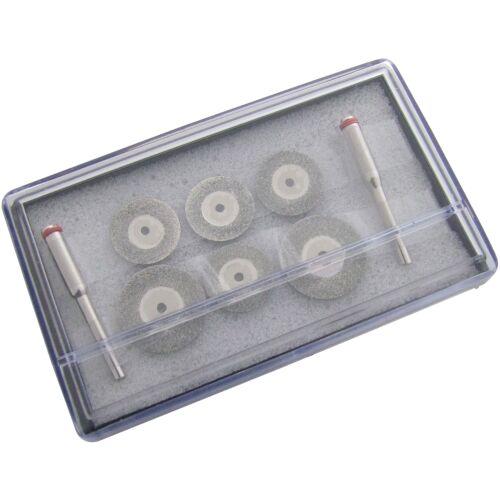 """6Pc diamant coupe disque set 1//8/"""" tige rotary perceuse verre métal pierre lame coupe"""