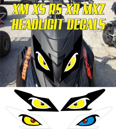 SKI DOO  XS XM XR RS MX Z TNT SUMMIT GSX RENEGADE HEADLIGHT DECAL STICKER MXZ 4
