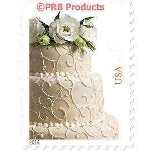 Image Is Loading Wedding Cake Usps Postage Stamps Sheet Of 20