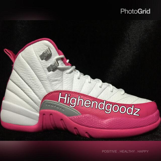 2179a507e19e Nike Air Jordan XII 12 Sz 9 Vivid Pink 2016 Retro DS Authentic ...