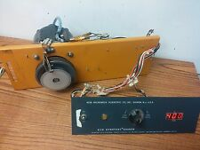 Bodine DC Motor NSH-54 115V 1725 RPM 1/8 HP with drive and RPM readout